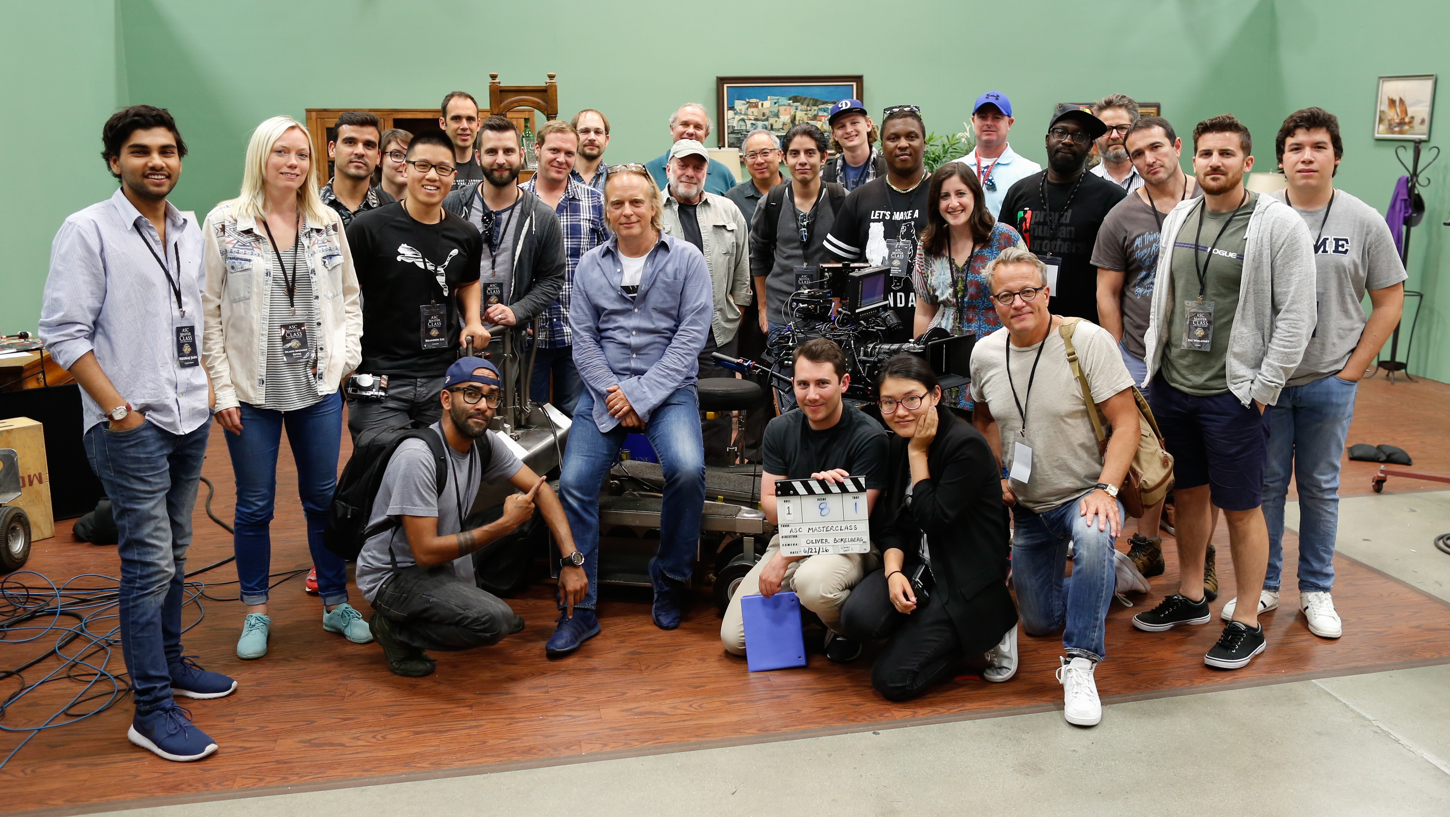 Oliver Bokelberg, ASC, BVK and the June 2016 Master Class participants.
