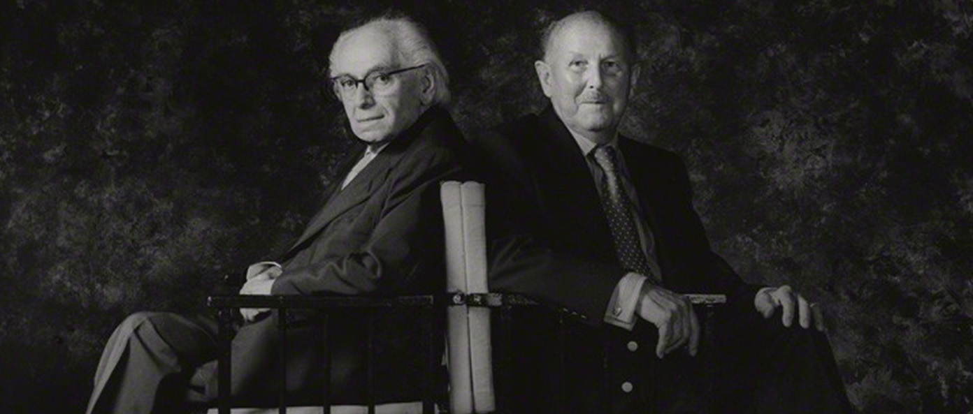 NPG x87556; Emeric Pressburger; Michael Powell by Cornel Lucas