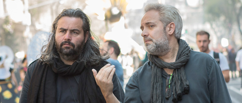 Hoyte van Hoytema and Sam Mendes on set of Spectre featured