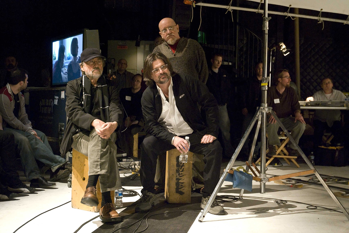 From left, Zsigmond, Chressanthis and unit photographer Peter Sorel while conducting a 2009 master class session in Chicago.