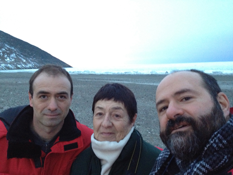 Left to right Xavier's brother Juan Cristobal, his mother, Lourdes Grobet, and Xavier.