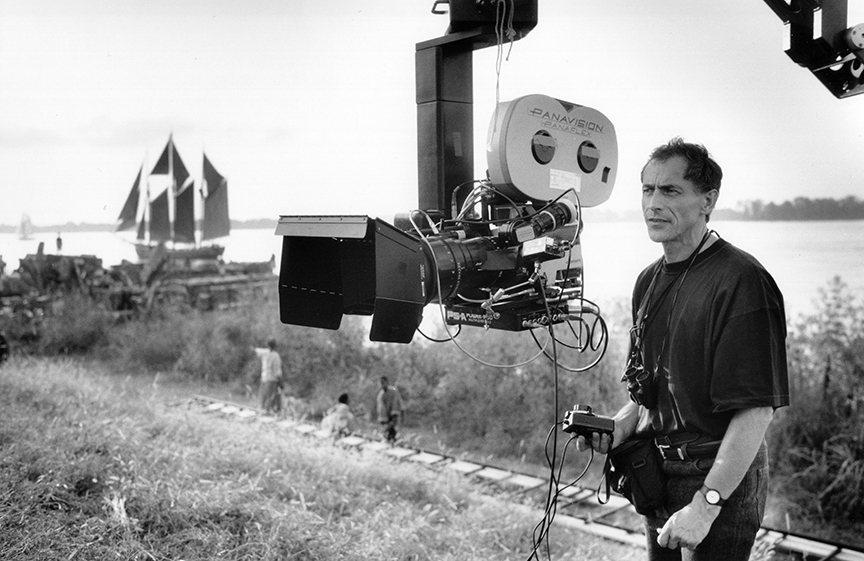 Philippe Rousselot, ASC, AFC while filming the stylish horror epic Interview with the Vampire: The Vampire Chronicles (1994). Photo by Francois Duhamel