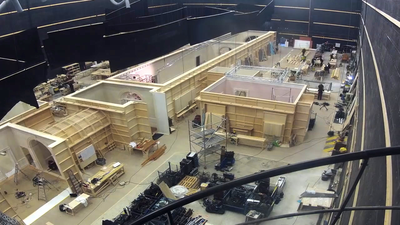 White House set for JACKIE built at the Cité du Cinéma (from featurette)