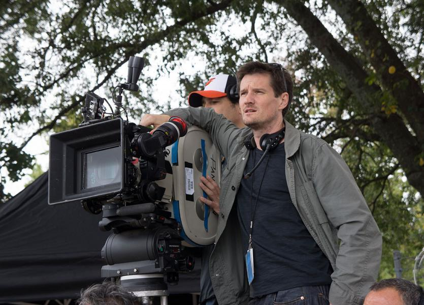 Jo Willems, ASC, SBC, at work on Hunger Games: Catching Fire. (Credit: Murray Close)