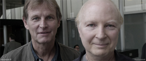 Karl Walter Lindenlaub and Elliot Davis at IBC 2013 -photo Benjamin B -thefilmbook-