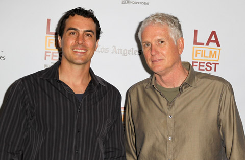 Bob Yeoman, ASC (right) with Kodak's Aaron Saffa at the Los Angeles Film Festival.