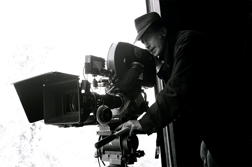 Ed Lachman, ASC during the production of I'm Not There (2007). Photo by Jonathan Wenk ©2007 The Weinstein Company