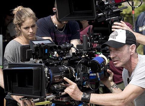 Cinematographer Tobias Schliessler, ASC, at work on Mr. Holmes. (Credit: Giles Keyte/Roadside Attractions)