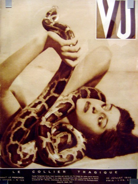 "Cover of ""VU,"" July, 1930, ""The Tragic Necklace,"" Man Ray."