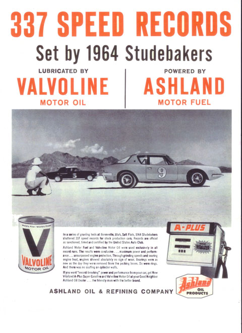 """If you want 'record-breaking' power and performance from your car, get New Vitalized A-Plus Super Gasoline and Valvoline Motor Oil. . . """