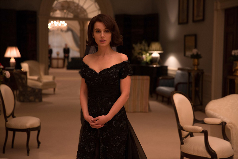 Natalie Portman as Jackie Kennedy on White House set