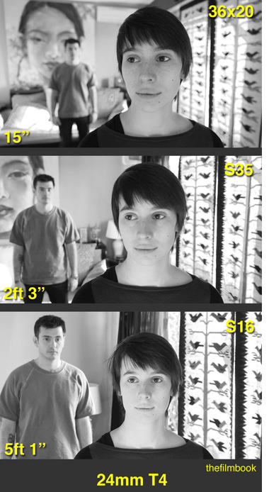 Personality of the 24mm focal length as revealed by 3 different sensors with same Field of View (click image for larger size)