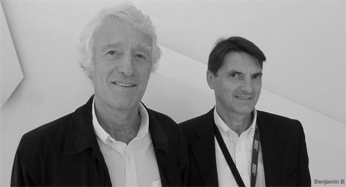 Roger Deakins and Franz Kraus - IBC 2012 - photo by Benjamin B - thefilmbook