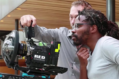 Rubens Jan and James Senade with Red Dragon and 6mm optics -Blanca Li 360 behind the scenes-