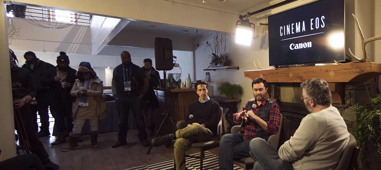 Sundance 2018 01 22 Asc Canon Panel Spotlight On Indie Episodic The Adulterers Director Dp Darin Quan And Dp Zack Schamberg Jay Holben During Panel 4 Copy
