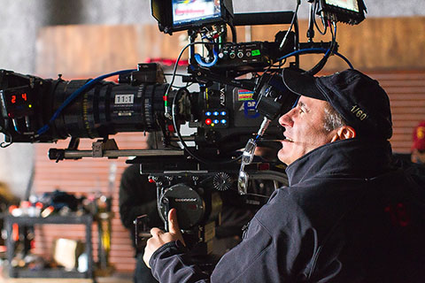 Michos at work on the film. (Credit: Phil Bray/Fox Searchlight Pictures)