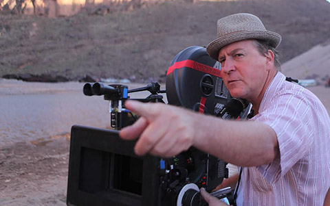 Terry Stacey, ASC, at work in Morocco on Salmon Fishing in the Yemen.