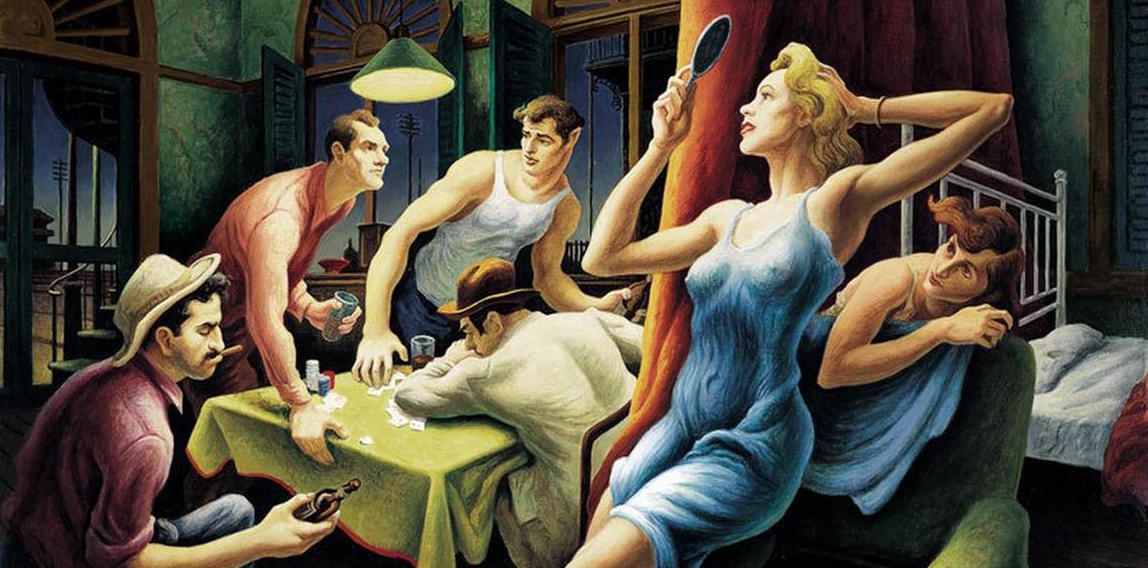 Thomas Hart Benton Poker Night From A Streetcar Named Desire 1948