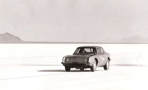 The Avanti in action at Bonneville.