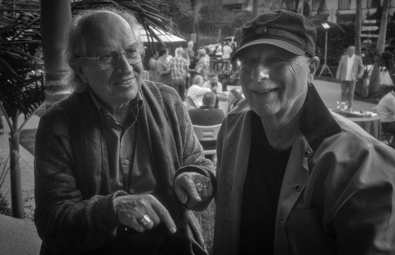 ICS2016 attendee and speaker Vittorio Storaro, ASC, AIC and event architect and organizer Frederic Goodich, ASC.