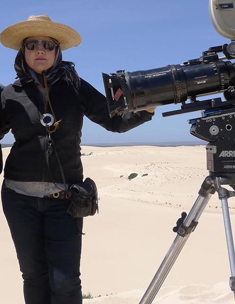 Mandy Walker on location for Tracks.