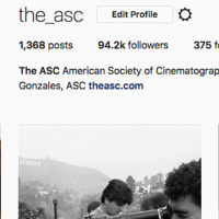 Dana Gonzales, ASC Now Curating Society's Instagram