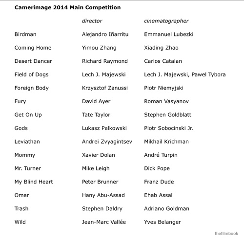 camerimage 2014 main competition -thefilmbook-