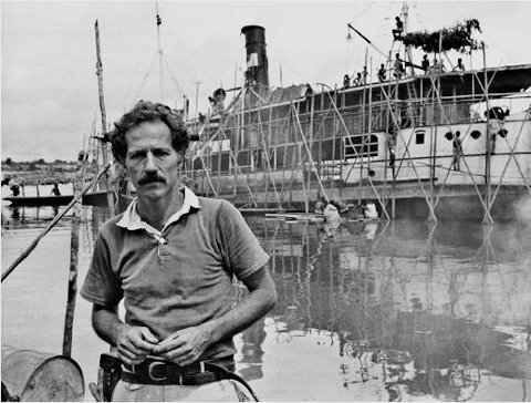 Herzog during production of Fitzcaraldo.