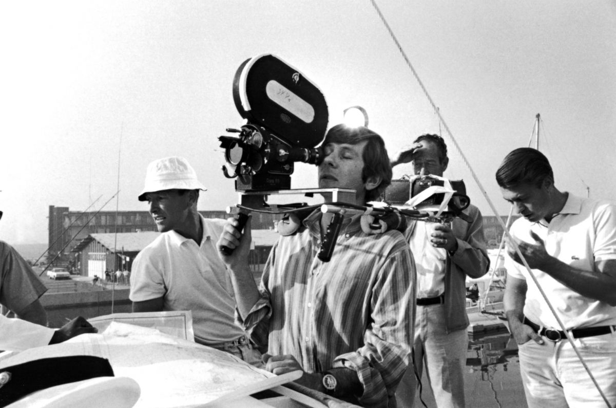 Polanski operates while filming portions of a dream sequence in the picture. Image courtesy of AMPAS.