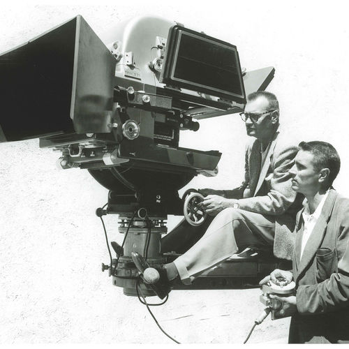 1957. The first 65mm Panavision camera used on Ben-Hur (credit Panavision)