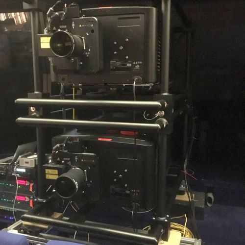 2 christie projectors for ang lee screening -thefilmbook