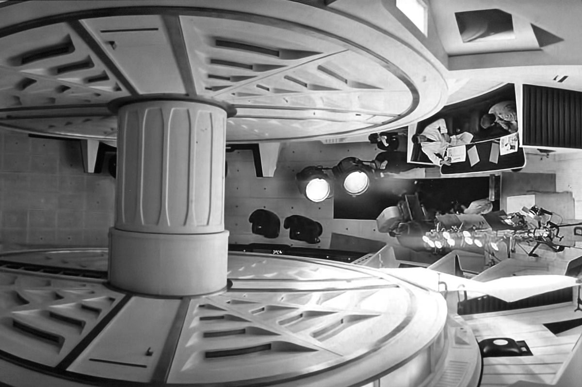 Filming 2001 A Space Odyssey The American Society Of Cinematographers Wiring Harness Abounds In Unusual Settings But Perhaps Most Exotic Them All Is Giant Centrifuge Which Serves As Main Compartment
