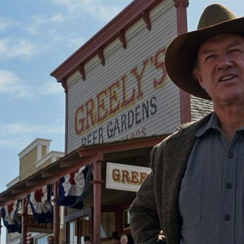 "Sheriff ""Little Bill"" (Gene Hackman) makes it clear he will not tolerate ""men of low character"" in Big Whiskey."