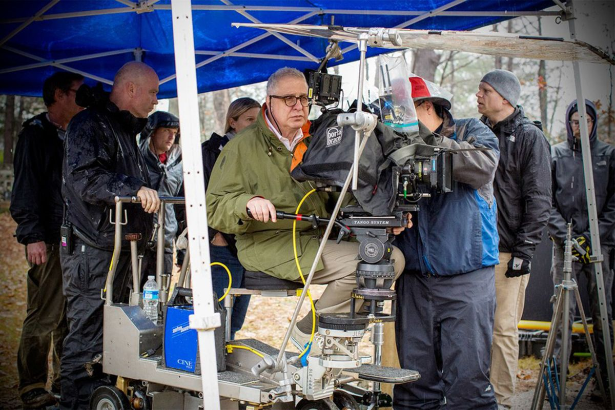 Errol Morris and crew at work on Wormwood.