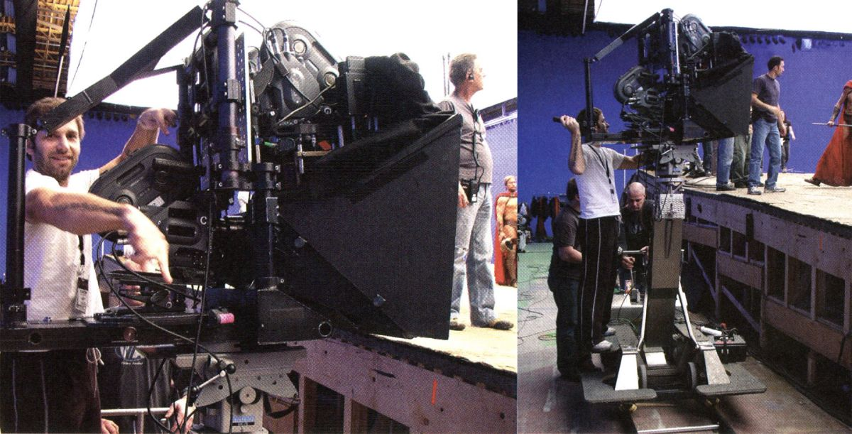 "Snyder takes a turn at the multi-cam rig incorporating a trio of Arri 435ES cameras employing a beam splitter to capture the exact same image using three different focal lengths — allowing them to digitally ""zoom"" in on key action moments in post by morphing between shots."