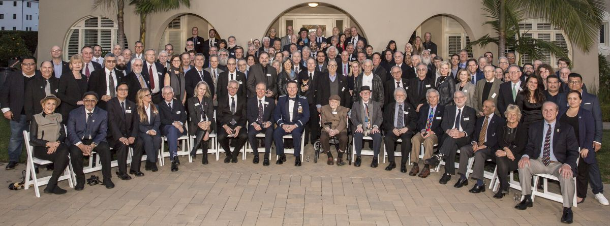 A group photo shot during the January 8 event at the Clubhouse. (Photo by Hector Sandoval)