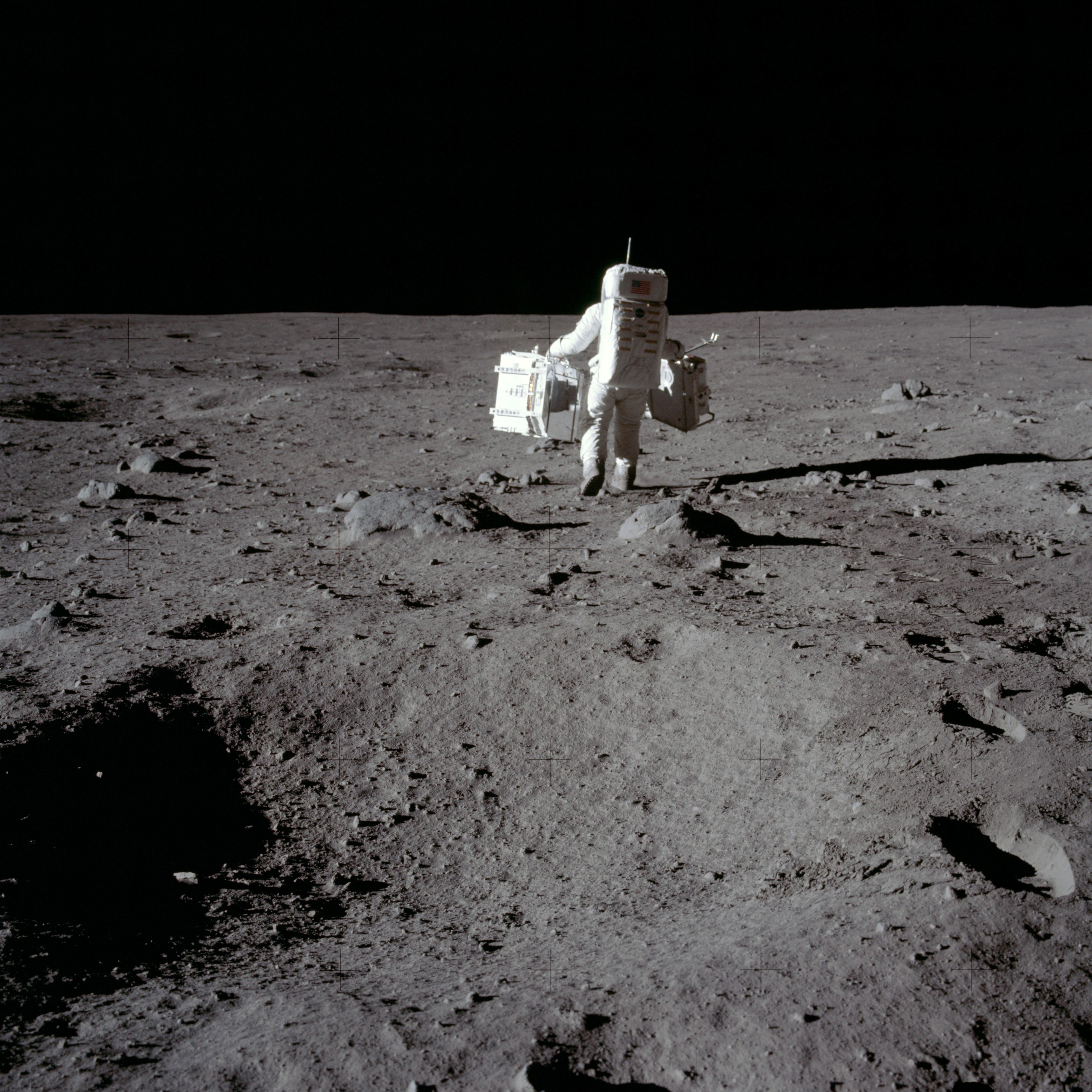 NASA Apollo 11 Landing 70mm Film Positive First Photo From Man On Moon Surface!