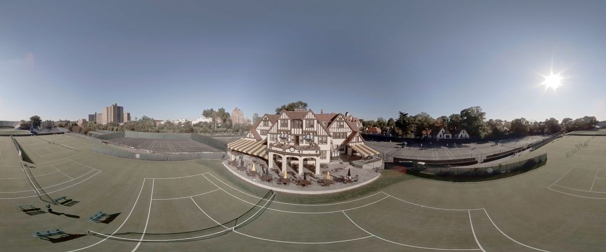 Aerial footage around the West Side Tennis Club in the Forest Hills neighborhood of Queens, N.Y., was captured with a DJI M600 drone fitted with a Z Cam S1 Pro multi-lens camera (see below).