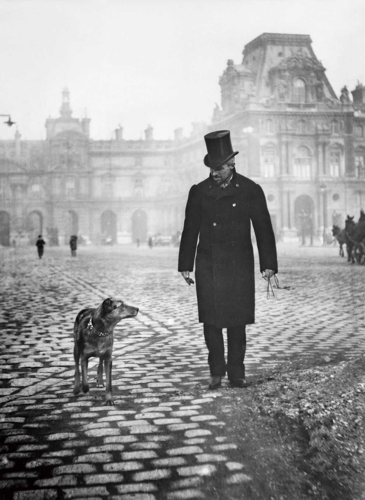 Gustave Caillebotte and his dog. (Credit: Martial Caillebotte)