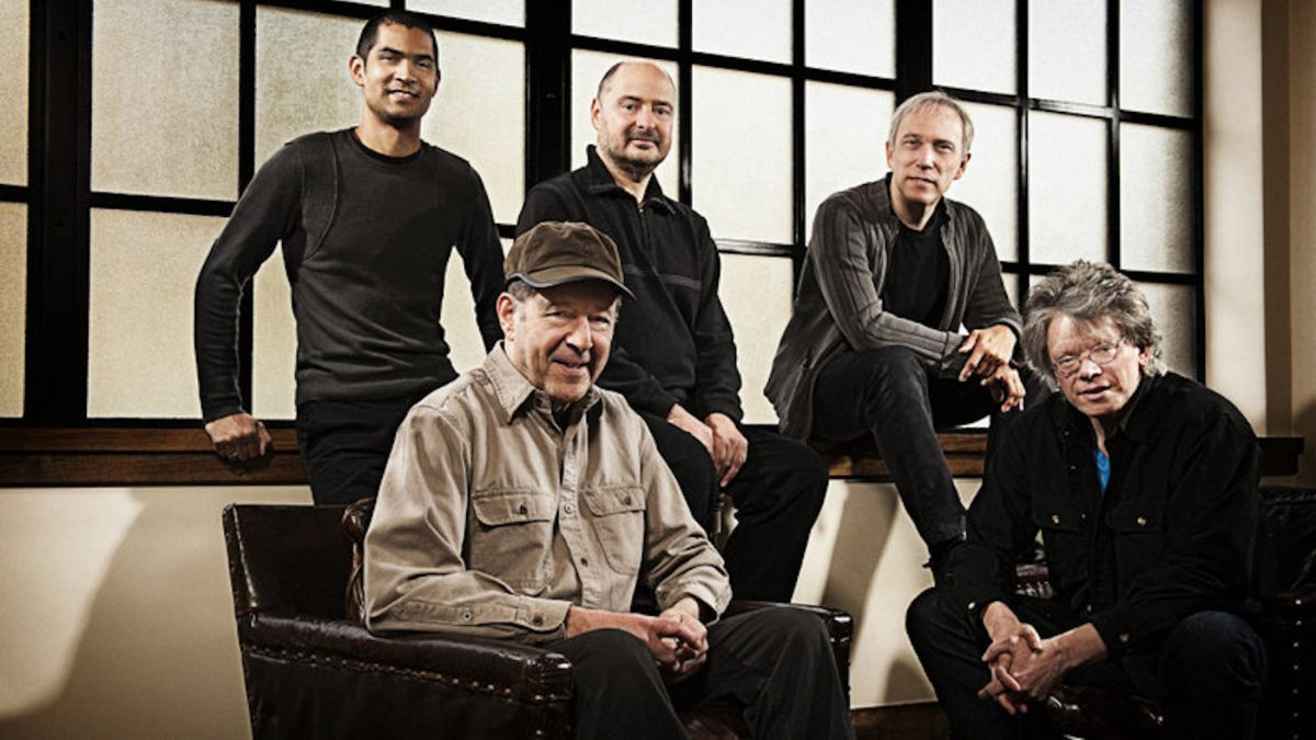 Steve Reich (foreground left) with members of the Kronos Quartet.