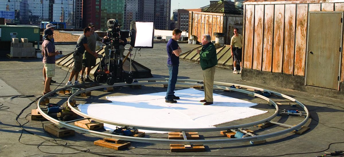 "Leonardo DiCaprio and Martin Sheen have a secret rooftop meeting in The Departed (2006). This shot was ultimately cut to save screen time, which led Ballhaus to lament, ""When you've done some nice moves and they don't make the cut, you feel a little bit sad!"""