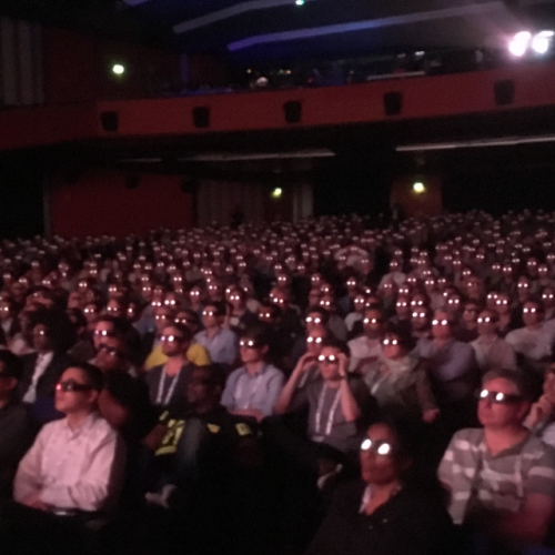 IBC big screen stereo 3D screening -thefilmbook
