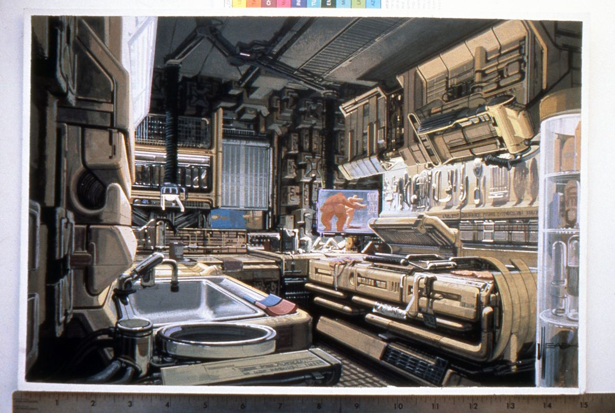 Deckard's yellow-ish kitchen — complete with lived-in look.
