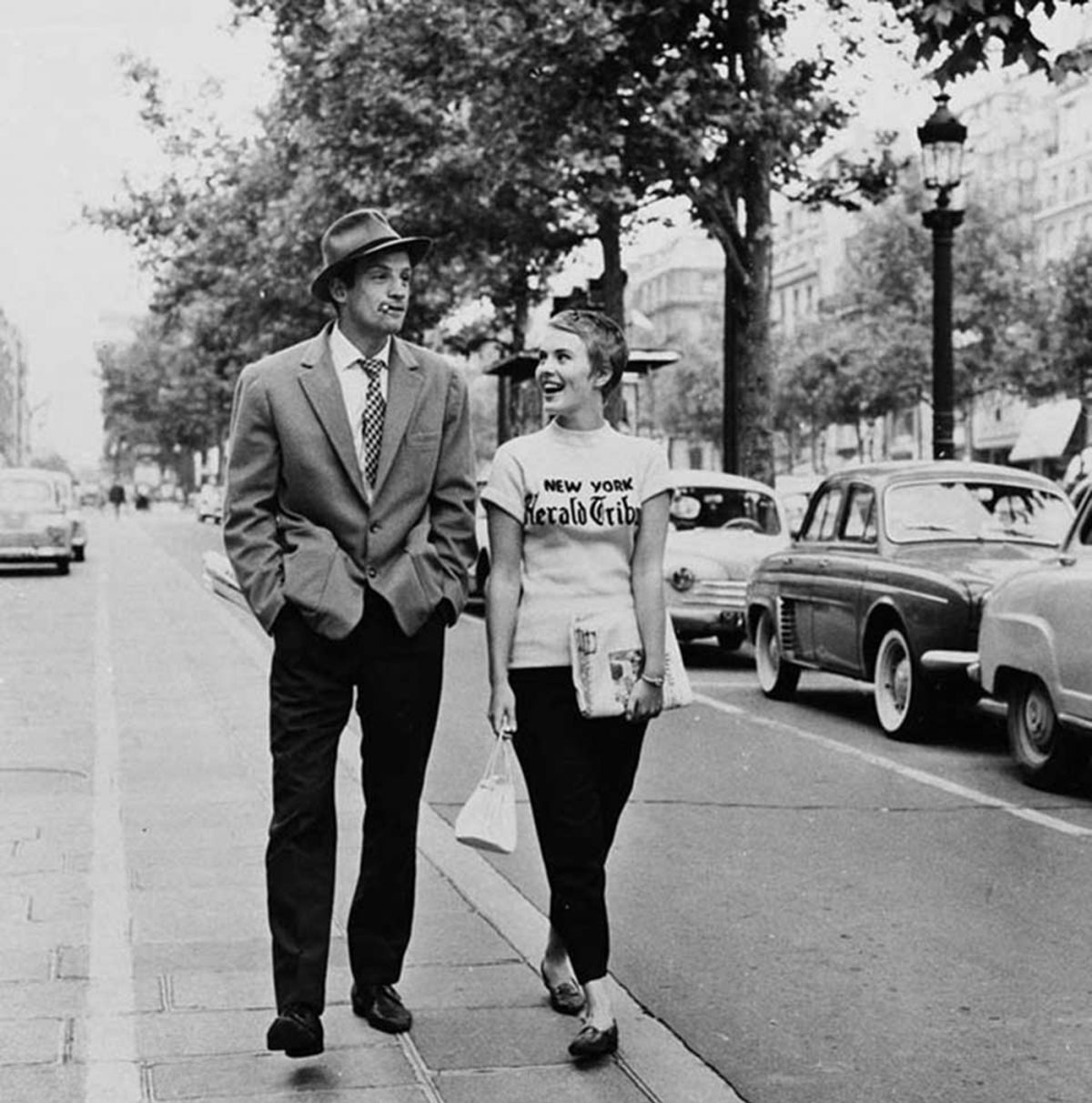 "Belmondo and Jean Seberg, ""Breathless."""