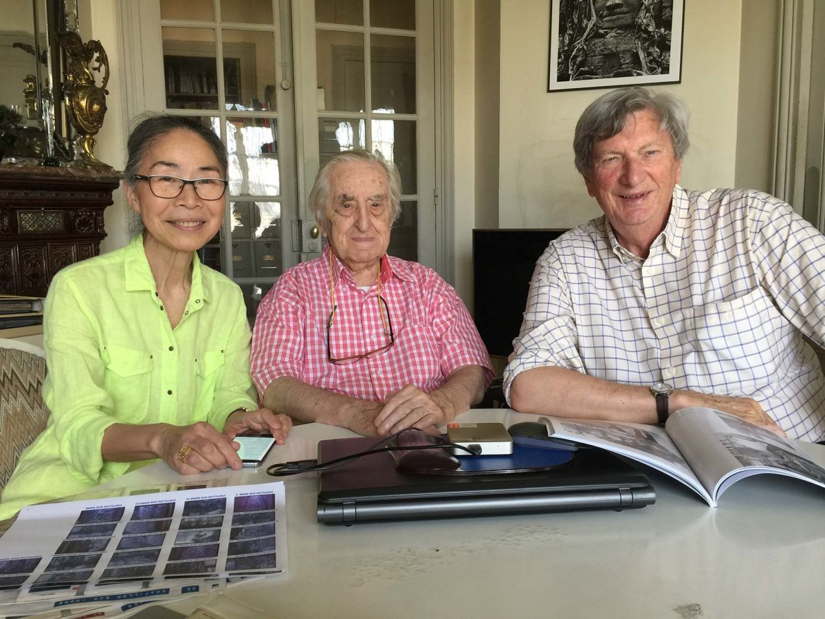 Kaoru and Raymond Cauchetier with the author.