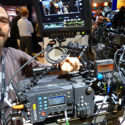 David Zucker with Alexa 65 at IBC (Credit: Benjamin B)