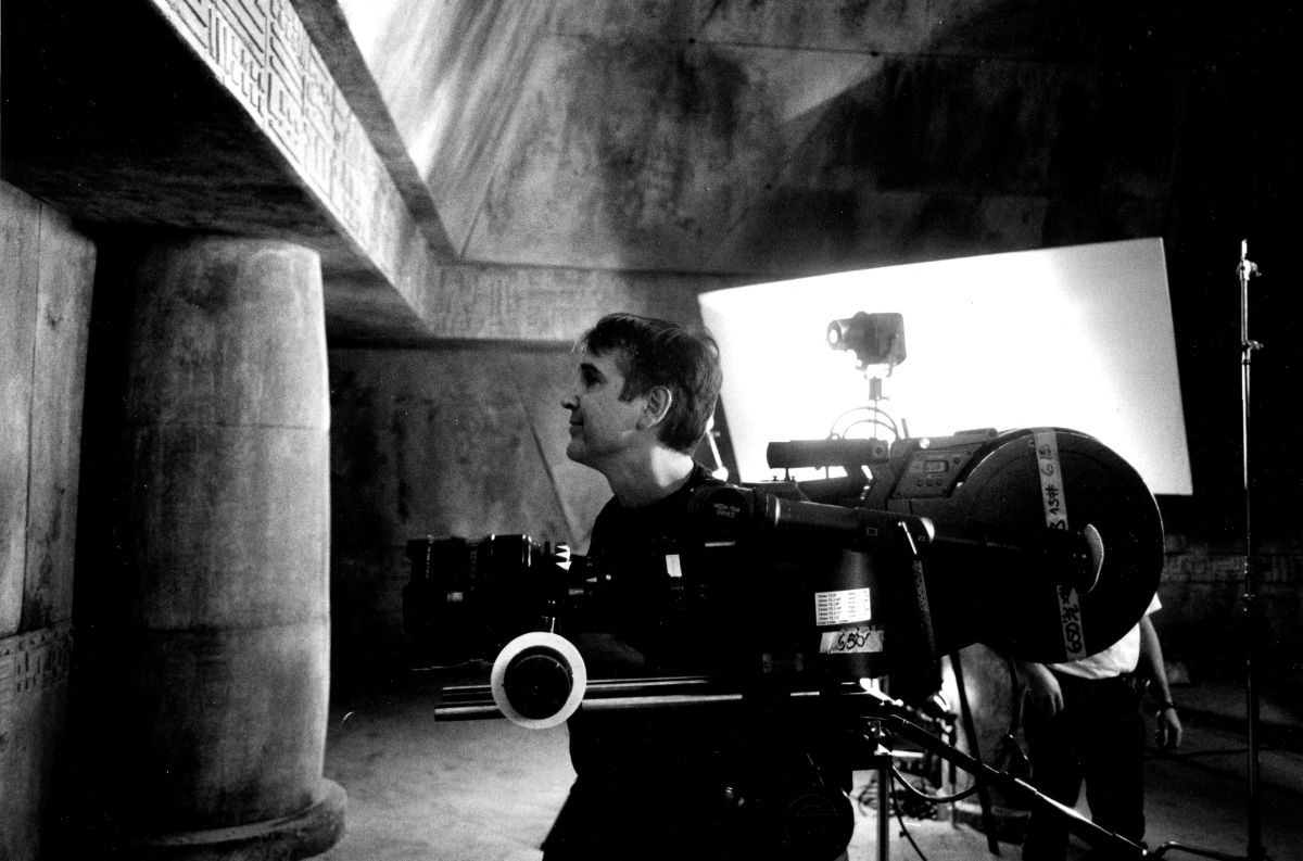 Cinematographer Thierry Arbogast, AFC in the temple set.