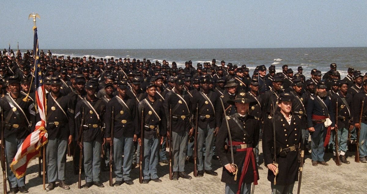 Directed by Edward Zwick, Glory (1989) depicts the exploits of the 54th Massachusetts Infantry Regiment, the Union Army's second African-American regiment in the American Civil War.