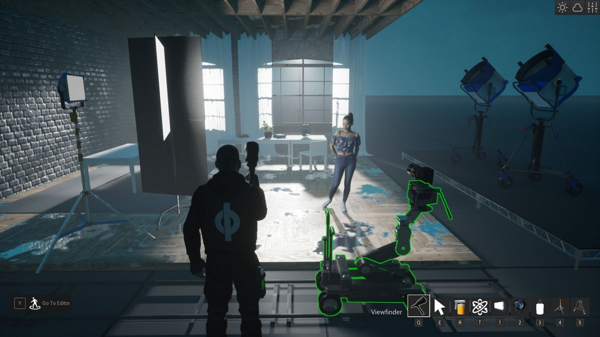 "Director of photography and previs artist Matt Workman's real-time ""cinematography simulator"" Cine Tracer is powered by Unreal Engine. (Screen capture.)"