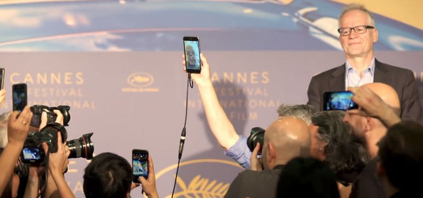 Godard On Face Time As Thierry Fremeaux Looks On
